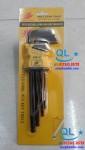 Bộ Lục lăng đen từ 1.5mm đến 10mm Wolf Team tools Handle Ball Point Hex Key