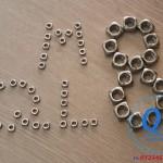 Đai ốc vuông Nuts Ecu M8 inox 304