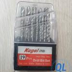 Bộ mũi khoan Kugel 19 chi tiết từ 1.0-10mm