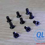 Bulong Screw vít pake đầu bằng M1.6x4 M1.6*4 đen